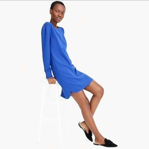 J. Crew Dresses - J.Crew Long-Sleeve Shift Dress in Everyday Crepe